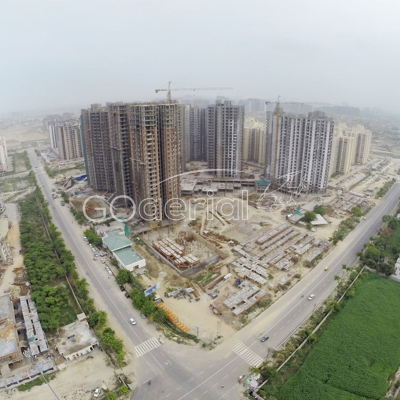 Aerial view of 4 Bunglows, Andheri for Shapoorji Pallonji by GO Aerial Drone Photography