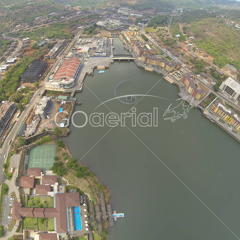 Aerial view of Lavasa City for HCC by GO Aerial Drone Photography